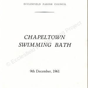 Chapeltown Swimming Baths - brochure for its opening in 1961 (inside front cover)