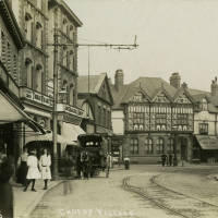 Liverpool Road shops Crosby Village c1900
