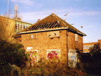 Ravensbury Park, Morden Road, disused ex-café building