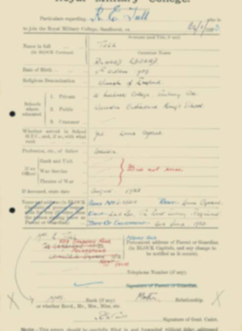 RMC Form 18A Personal Detail Sheets Feb & Sept 1933 Intake - page 138