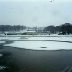Snowy scene in South Marine Park