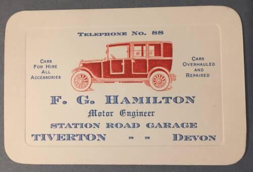 F.G Hamilton, Motor Engineer, Station Road Garage, 19th Century