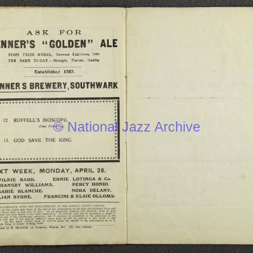 Original Dixieland Jazz Band, London Palladium. 1919 006