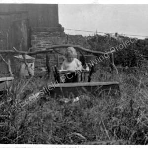 Grenoside, 12 Lump Lane, rear garden c1936