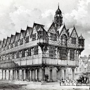 Town Hall, High Town, Hereford, print