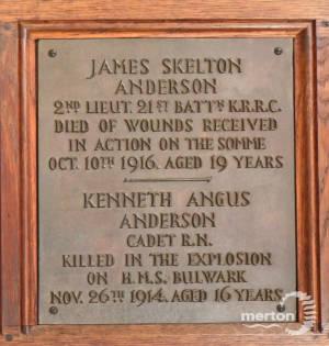 Memorial Plaque - Anderson