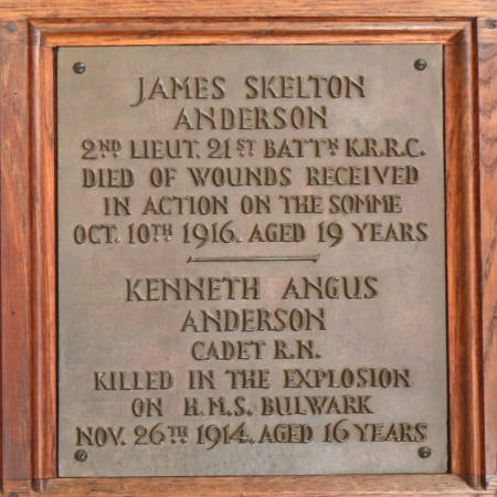 Memorial Plaque - Anderson