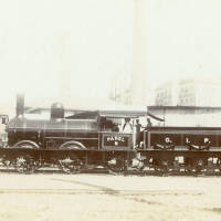 Parel B locomotive, 0-6-0 engine.