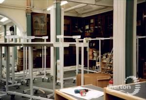 Refurbishment work, Wimbledon Library