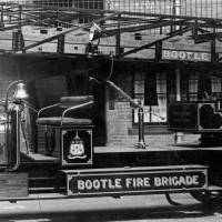 Bootle fire engine, with non-pneumatic tyres, late 1920s