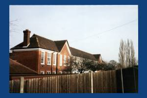 Garth High School, Lilleshall Road, Morden: North Block: East Elevation