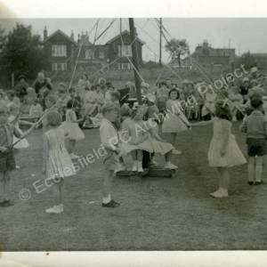 1960's Maypole Country Dancing In School Field (f)