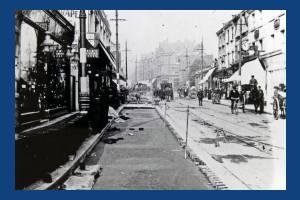 Wimbledon Hill Road: Laying tram track
