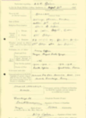 RMC Form 18A Personal Detail Sheets Aug 1935 Intake - page 25