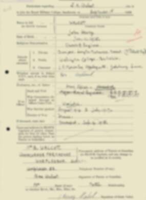 RMC Form 18A Personal Detail Sheets Feb & Sept 1933 Intake - page 300