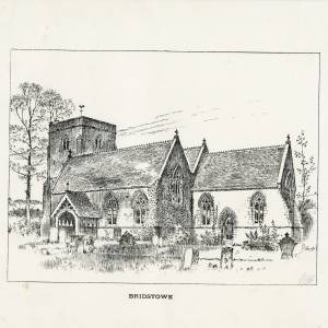 Bridstowe Church,. Herefordshire, print
