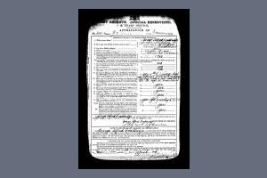 Enlistment papers George Couldridge