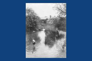 River Wandle. Crown and Grove Mills Mitcham