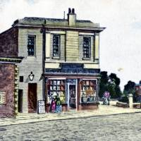 Southport, Victoria Market & Assembly Rooms postcard illustration