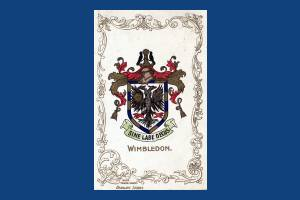 """The Wimbledon Borough Arms bearing the motto """"Honour without stain"""""""