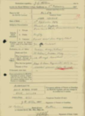 RMC Form 18A Personal Detail Sheets Feb & Sept 1933 Intake - page 2