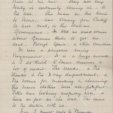 Elsie Inglis to Amy Inglis Simson - En Route to Serbia, April 1915 (Part 5)