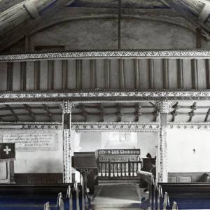 St Margarets Church, St Margarets, Herefordshire, interior 1931