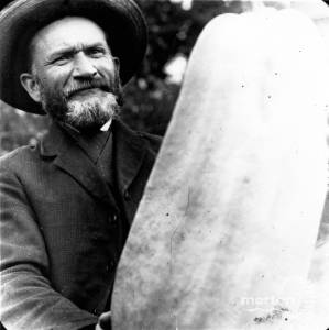 Thomas Francis Senior pictured with a 56lb marrow