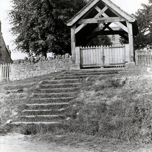 Lychgate, Woolhope Church, 1928