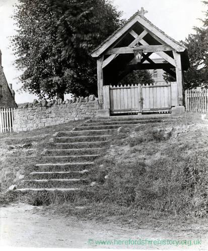 Lychgate, Woolhope Church, 1928