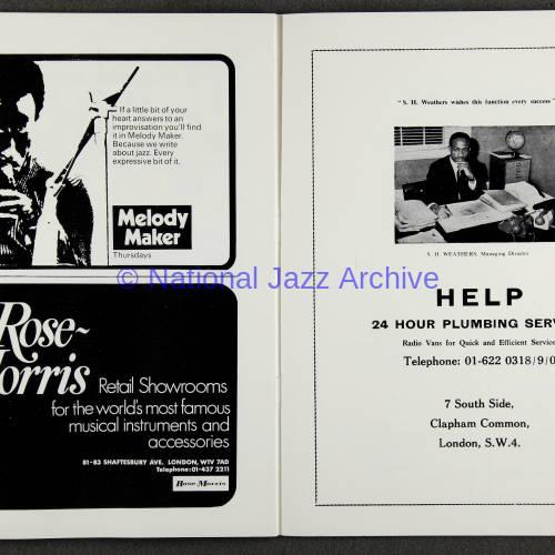 Duke Ellington Orchestra 'Sacred Concert' – Westminster  Abbey 24th   October 1973 018