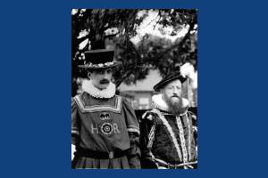 Charles Lack and Robert Masters Chart in Tudor costume