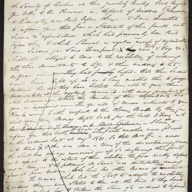 Letter respecting the charges threatened against the Society in the care of widows Edington and Gilmour (Part 1)