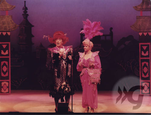Photograph - Johnny Beattie and Anne Fields in Aladdin 1986