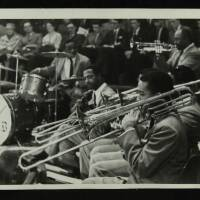 Sonny Payne (drums) with the Count Basie Orchestra