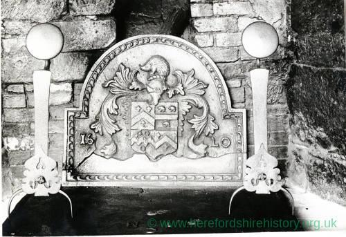 Brockhampton, Fawley Court fireplace & fire back