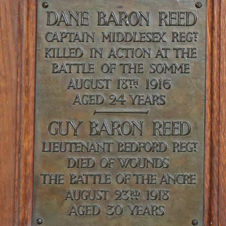 Memorial Plaque - Reed & Reed