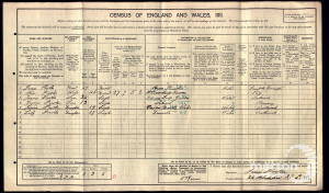 1911 Census for 24 Blackshaw Road, Tooting