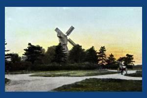 Wimbledon windmill at sunset