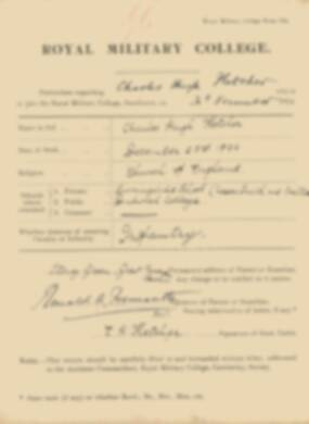 RMC Form 18A Personal Detail Sheets Jan 1915 Intake - page 121