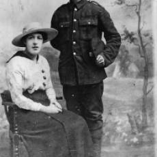 Private and Mrs W T Higgs During WW1