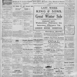 Hereford Journal - 31st January 1914