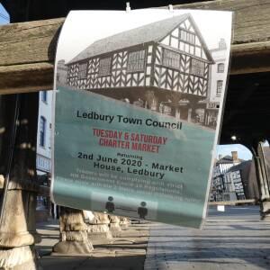 Ledbury Charter market trading again notice