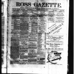 Ross Gazette 1918