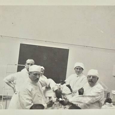 Professor Ernst Bumm and Assistants