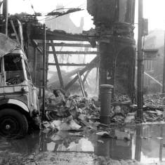 Bomb Damage at Market Place and King Street