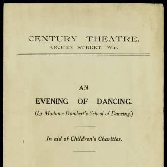 Century Theatre,  London, December 1928