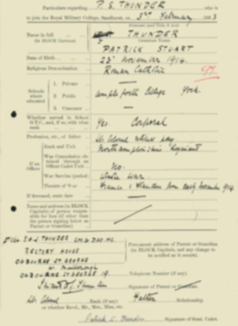 RMC Form 18A Personal Detail Sheets Feb & Sept 1933 Intake - page 134