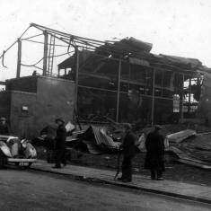 Bomb Damage to Temple Town, Anglo Foundry.