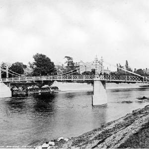 The Victoria Bridge from Wye Meadows - from 'Photographic Views of Hereford'